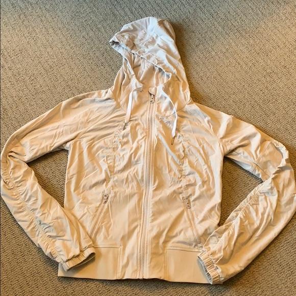 b7b5ea579 Lululemon Size 6 cream striped track jacket